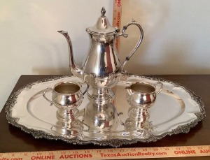 Rogers Bros. Silverplate Tea Set
