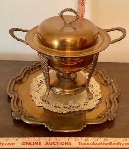 Plated Tureen with Warming Stand