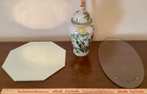 Ginger Vase and 2 Decorative Trays