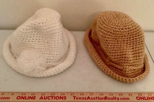 2 Crocheted Ladies Hats