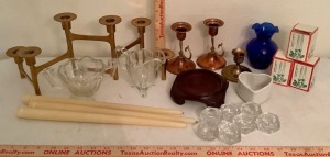 Candle Holders and Candle Assortment
