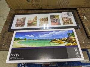 "20x10"" White & 24x8"" Black Picture Frames"
