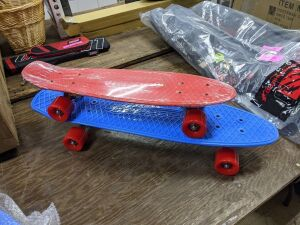"Set of Skateboard, Blue is 27"" & Red is 22"""