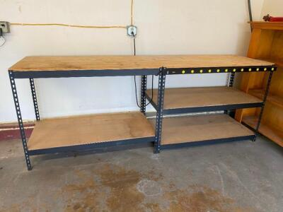 Workbench with Power Strip