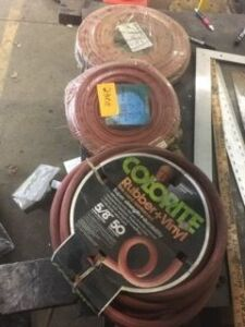 Lot of welding hoses and water hose