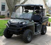 2010 Polaris Ranger, Diesel Powered Utility Vehicle, VIN 4XATH90D2B2172395, Powers On, 904cc Engine, New Tires - 4