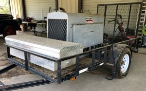 Lincoln SA-200 Welder on 5x10 Trailer with Toolbox and Accessories