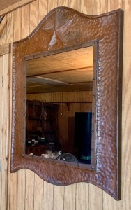 Tin Framed Mirror
