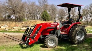 2018 Massey Ferguson 2706E Tractor with L135E Loader and Bale Spear