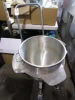 HD Commercial Mixer Bowl on Cart