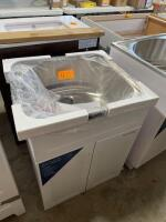 All in one laundry sink and cabinet - 2