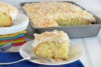 Sour Cream Coconut Sheet Cake baked by Nancy Swinford