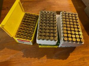 Assorted 9 MM ammunition, various makers, 150 round total