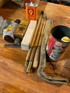 Lot of assorted gun cleaning products