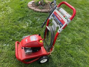 Troy Bilt 2200 PSI Power Washer with 5 HP motor, has compression