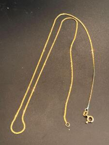 14 karat yellow gold 9 inch chain