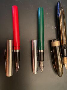 Three Sheaffer Fountain Pens