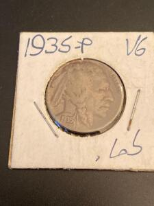 1935-P Buffalo nickel