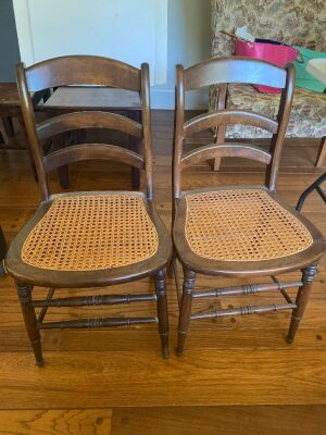 Cane Bottom Chairs