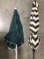 TWO OUTDOOR PATIO UMBRELLAS WITH BASES (4) - 4
