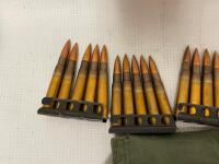 303 British on Strippers and Bandolier - 50 rounds - 2