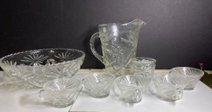 VINTAGE STAR OF DAVID GLASSWARE