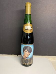 ELVIS PRESLEY COMMEMORATIVE WINE IN BOTTLE