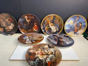 NORMAN ROCKWELL'S COLLECTORS PLATES (7)
