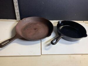 CAST IRON SKILLETS (2)