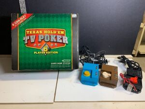 HOBBY TRANSFORMERS (3) AND MULTI PLAYER VIDEO GAME SYSTEM - TV POKER