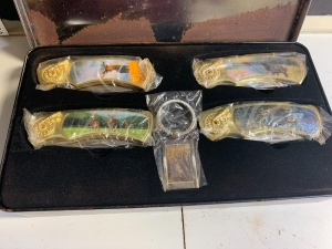 WILDLIFE THEMED KNIFE SET IN TIN BOX