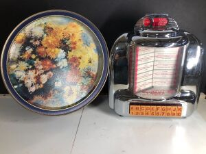 CROSLEY COLLECTORS EDITION RADIO AND FLORAL PATTERN TIN