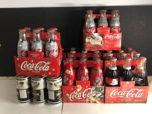 ASSORTED FULL COCA-COLA BOTTLES & HARLEY DAVIDSON DAYTONA 1993 6-PACK
