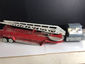 'ERTL' KROGER SEMI TRACTOR & 'NYLINT' FIRE DEPARTMENT TRAILER