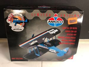 GEARBOX COLLECTIBLE 'AMOCO WACO UBF BIPLANE' LIMITED EDITION COLLECTIBLE COIN BANK