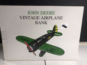 JOHN DEERE VINTAGE AIRPLANE BANK