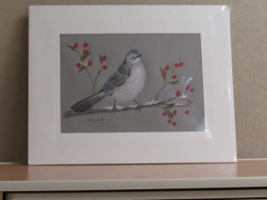 "Beth Schmitt – Prism color drawing of a ""Little Grey Bird"