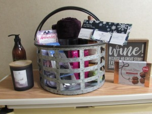 Wine & Spa Basket w/gift certificate