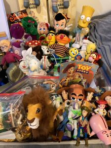 Toys, Toys, Toys! including Barney, Winnie the Pooh, Sesame Street, Raggedy Ann and Andy, The Simpsons, Lion King, Toy Story and A LOT more!