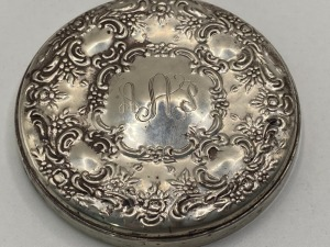VINTAGE TOWLE STERLING COMPACT MIRROR. TOTAL WEIGHT WITH MIRROR 77.4 G.