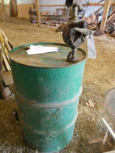 55 gallon empty drum with pump