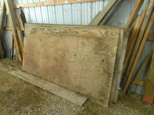 4' x 8' tongue and groove plywood (6 sheets) & 2 regular sheets of plywood