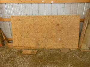 4' x 5' tongue & groove particle board (4 sheets)