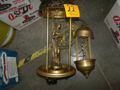 Vintage/Antique 2 Cage Hanging Lamps