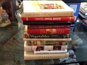 Collection of cookbooks- hardback