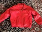 Ladies Preston&York red leather jacket- size xs