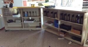 2 Shelving Units and a 2 Door Side Table