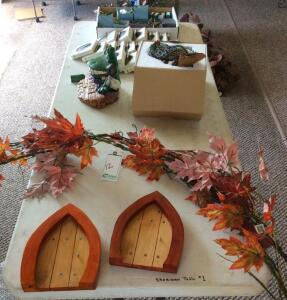 Miscellaneous Decorative Items on table