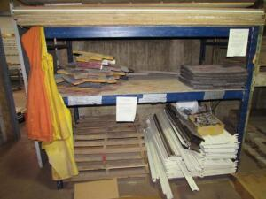 (1) Section Of Pallet Rack: (2) Uprights, (4) Crossbeams, {EMPTY}