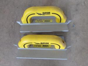 "(2) Gator GF10820  3/8"" W x 1"" D x 1/4"" R Double, 4""x8"" Hand Groover"
